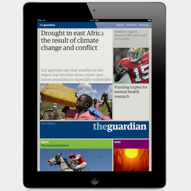 the guardian iPad app