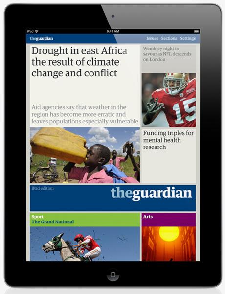 guardian iPad edition